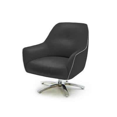 Aubrey Modern Eco-Leather Arm Chair