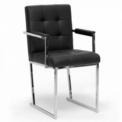 Clower Modern Square Upholstered Arm Chair
