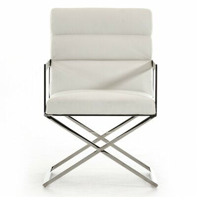 Clower Modern Steel Leg Arm Chair