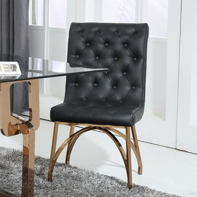 Clower Modern Upholstered Solid Back Side Chair