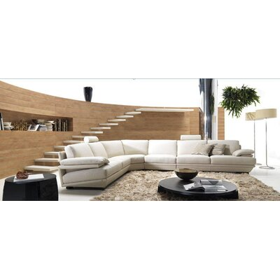 VIG Furniture VGBNBQ-002-GRY Divani Casa Leather Sectional