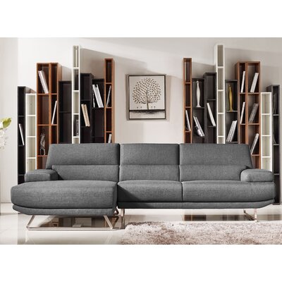 VIG Furniture VGMB-1509B-GRY Divani Casa Trinidad Reversible Chaise Sectional