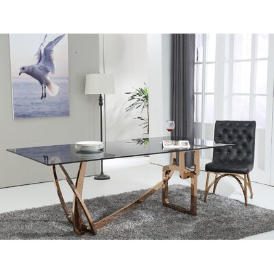Clower Glass Top Dining Table