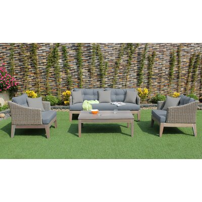 Renava 4 Piece Deep Seating Group with Cushion