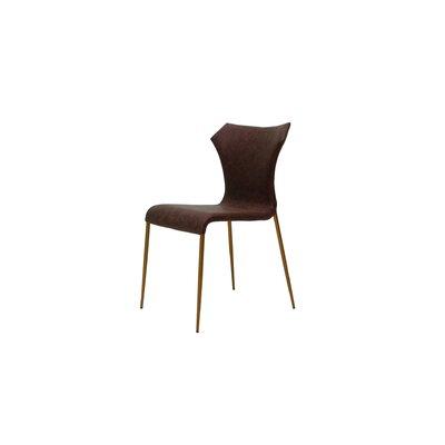 Johnsie Side Chair Finish: Cognac/Antique Brass
