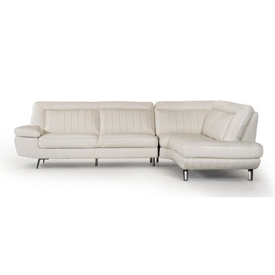 Coalpit Heath Genuine Leather Steel Frame Sectional