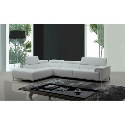 Cana Solid L-Shaped Leather Sectional