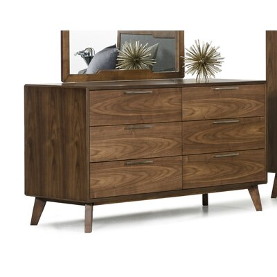 Creek Side 6 Drawer Double Dresser