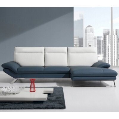 Coalpit Heath Modern L-Shaped Leather Sectional