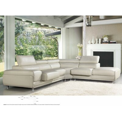 Coalpit Heath L-Shaped Adjustable Headrests Leather Sectional