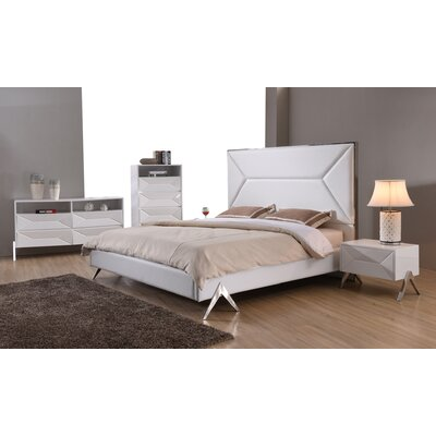 Reymond Panel 4 Piece Bedroom Set Bed Size: Queen