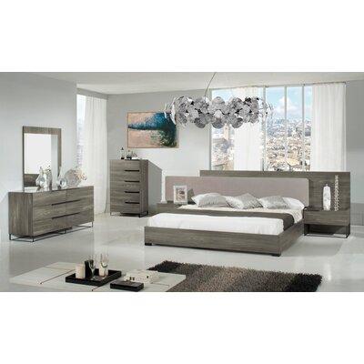 Tatman Platform Customizable Bedroom Set Size: Queen, Finish: Gray Walnut