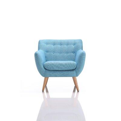 Taveras Fabric Armchair Upholstery: Blue
