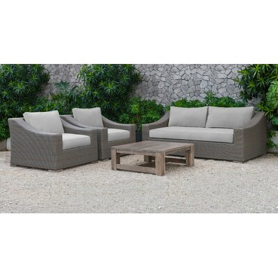 Sinclair Palisades 4 Piece Deep Seating Group with Cushion