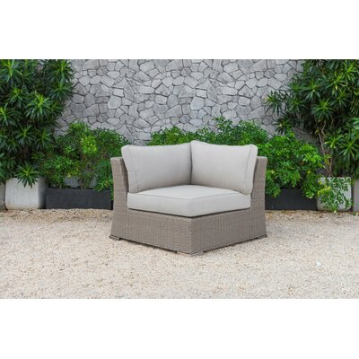 Abbot Outdoor 5 Piece Sectional Seating Group with Cushion