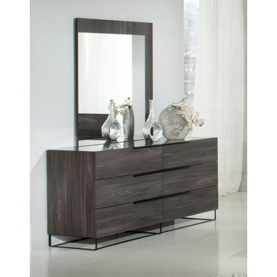 Lyons 6 Drawer Dresser with Mirror