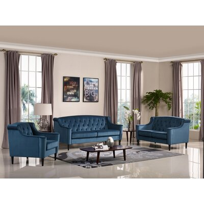 Burton Latimer Velour 3 Piece Sofa Set
