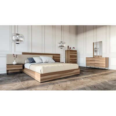 Tatman Platform 5 Piece Bedroom Set Size: Queen, Finish: Walnut