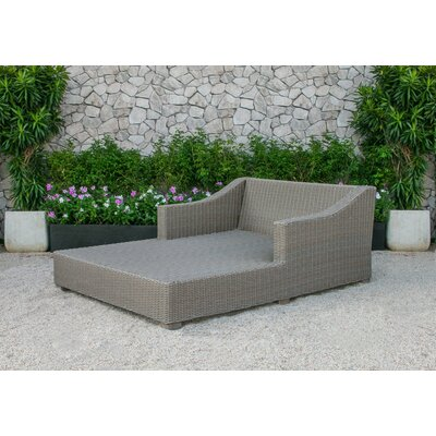 Agora Outdoor Wicker Sunbed Chaise Lounge with Cushion