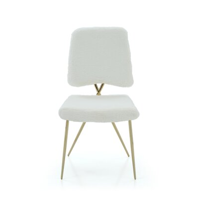 Simone Upholstered Dining Chair Upholstery Color: White