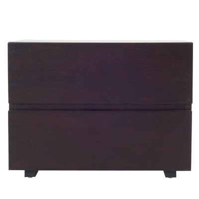 Carnevale Wenge 2 Drawer Nightstand