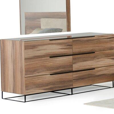 Stiltner Modern 6 Drawer Double Dresser