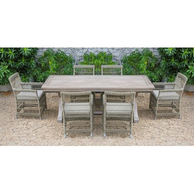 Fotau Outdoor 7 Piece Dining Set with Cushions