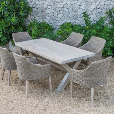 Agora Outdoor 7 Piece Dining Set with Cushions