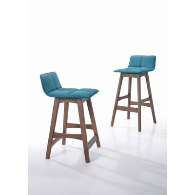 Schuyler 29 Bar Stool Upholstery: Teal