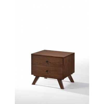 Dunouragan Century 2 Drawer Nightstand