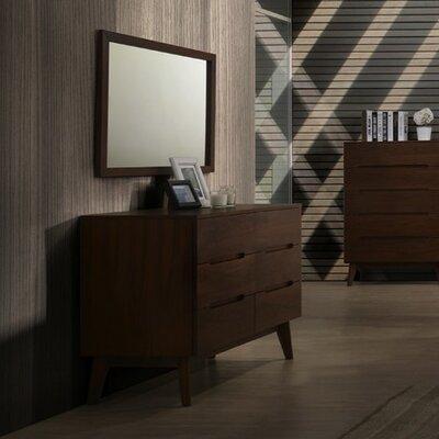 Cullen Mid-Century 6 Drawer Dresser with Mirror