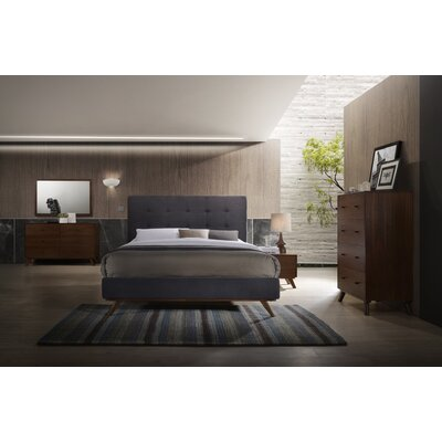 Mid-Century Platform Customizable Bedroom Set Size: King