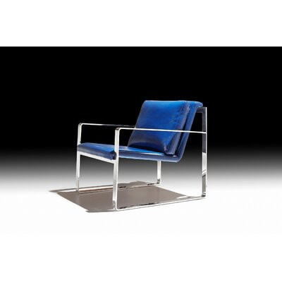 Ibanez Leatherette Armchair Upholstery: Blue