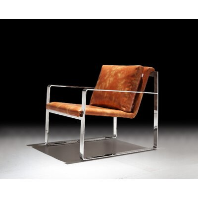 Ibanez Leatherette Armchair Upholstery: Brown