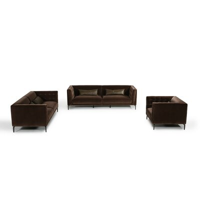 Perdita 3 Piece Living Room Set