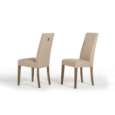 Almonte Upholstered Dining Chair Frame Color: Beige