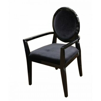 Benedict Transitional High Gloss Armchair