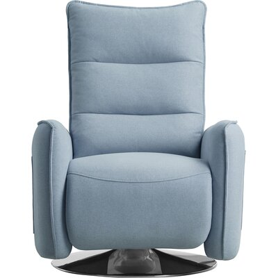 Cano Manual Recliner Upholstery: Blue