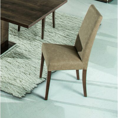 Almonte Upholstered Dining Chair Frame Color: Rovere
