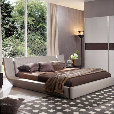 Andice King Upholstered Platform Bed with Light