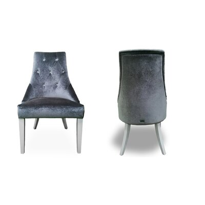 Whitney High Gloss Upholstered Dining Chair