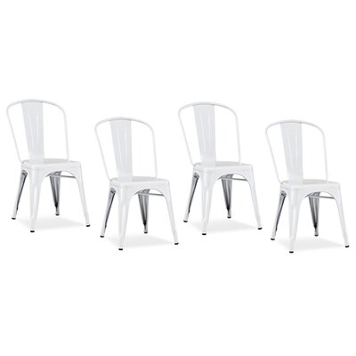 Modrest Side Chair Finish: White