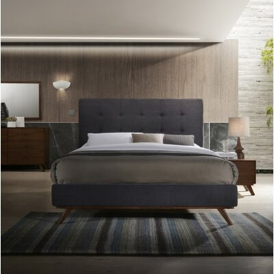 Dunouragan Century Upholstered Platform Bed Size: King