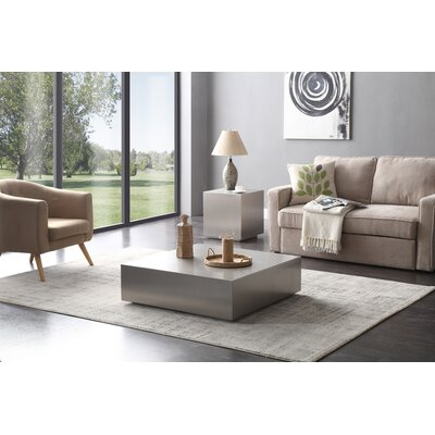 Hundley 2 Piece Stainless Steel Coffee Table Set