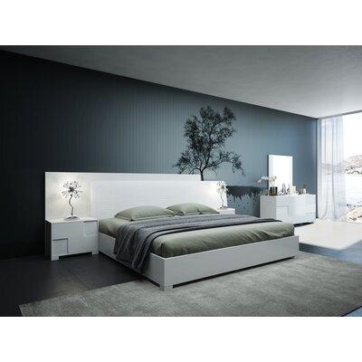 Parman Italian Queen Platform�5 Piece Bedroom Set