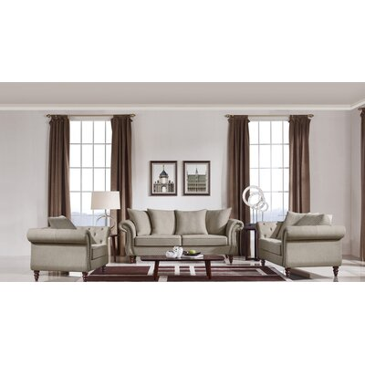 Sebrina Transitional 3 Piece Living Room Set