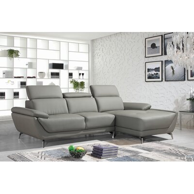 Redd Sofa and Chaise Upholstery: Gray