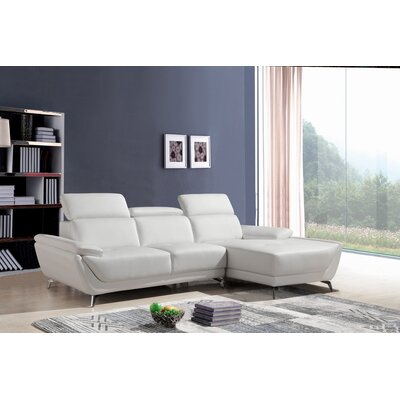 Redd Sofa and Chaise Upholstery: White