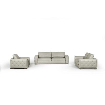 Proffitt 3 Piece Leather Living Room Set