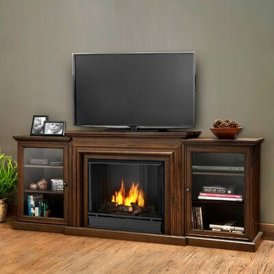 Frederick Gel Fuel 72 TV Stand with Gel Fireplace Color: Chestnut Oak